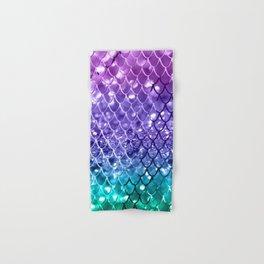 Mermaid Scales on Unicorn Girls Glitter #19 #shiny #decor #art #society6 Hand & Bath Towel