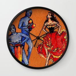 Latin Dance Wall Clock