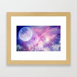 Pastel Celestial Skies Framed Art Print