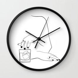 Whiskey Woman Wall Clock