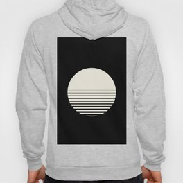 Sunrise/ Sunset Horizon Lines - Black/White Hoody