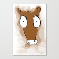 donkey Canvas Prints featuring Donkey by Frances Roughton