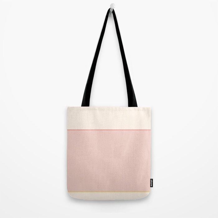 Subtle Spring Color Block Tote Bag