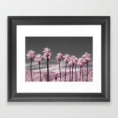 Pink Palms Framed Art Print
