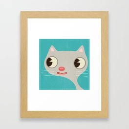 Grey Kitty Framed Art Print