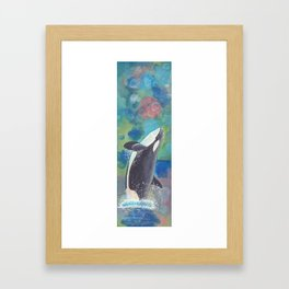 Breaching Orca Framed Art Print