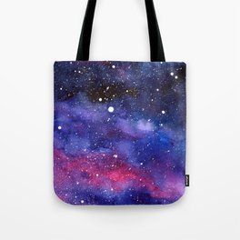 Nebula Galaxy Watercolor Space Sky Tote Bag
