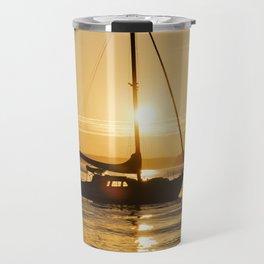 Sunset Escape Boat Travel Mug