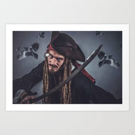 Pirate Sparrow Art Print
