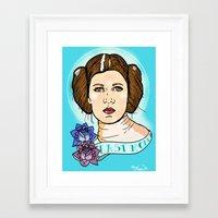 leia Framed Art Prints featuring Leia by Monica Lara Art