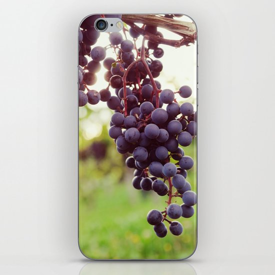 Glowing Red Wine Grapes iPhone & iPod Skin