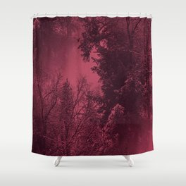 A cold wintry evening... Shower Curtain