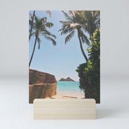 Secret Beach Views to Lanikai Mini Art Print
