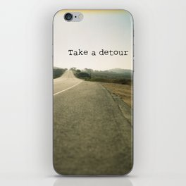 Take A Detour iPhone Skin
