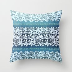 Abstract Ocean Waves Pattern Throw Pillow