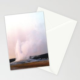 old faithful spray Stationery Cards