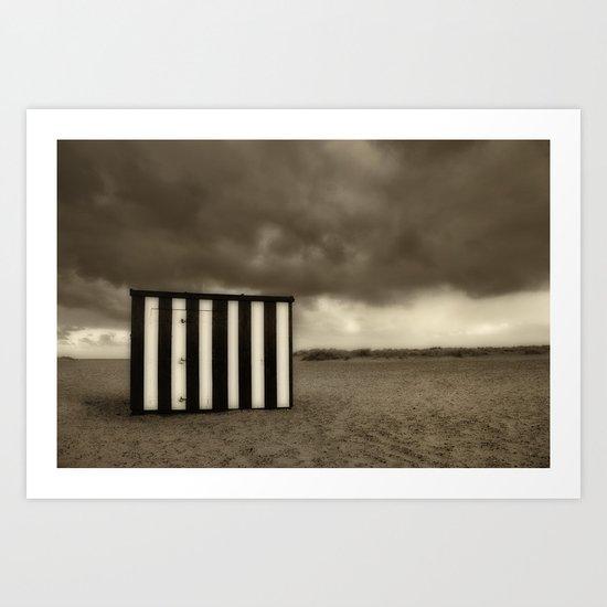 Great Yarmouth Beach Hut Art Print