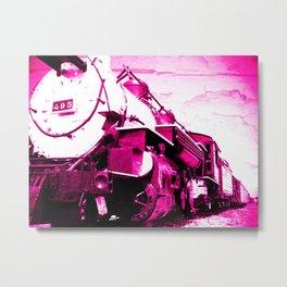 Train pink Metal Print