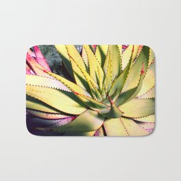 Cactus in neon colour pop photograhy no.9 Bath Mat