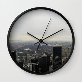 Grey Clouds over Central Park, NYC Wall Clock
