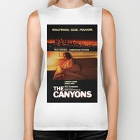 "lindsay lohan Biker Tanks featuring Lindsay Lohan ""The Canyons"" French Film Poster by Eric Terino"