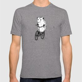 Opossums bike, too T-shirt