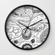 Geometric Stream Wall Clock