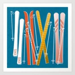Colorful Ski Pattern Kunstdrucke