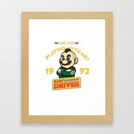 Kart Driver Framed Art Print