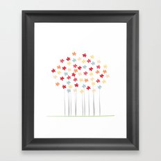 Delicate Blooms Framed Art Print