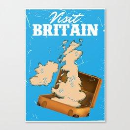 Visit Britain vintage travel poster Canvas Print