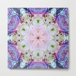 modern floral mandala Metal Print