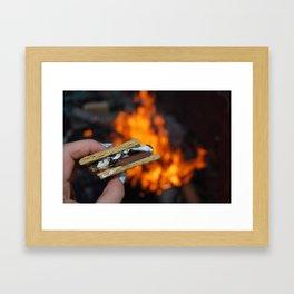 Campfire S'mores Framed Art Print