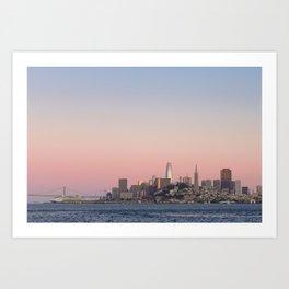 Sunset over San Francisco Art Print