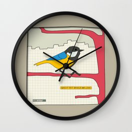 Great Tit Wall Clock
