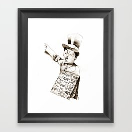the POPO' paperboy Framed Art Print