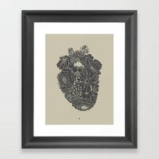 Responding Heart - Black & Tan Vintage Print Framed Art Print