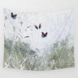 A Spell for Creation - butterflies amongst grass Wall Tapestry