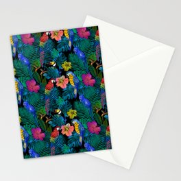 Tropical Birds and Botanicals Stationery Cards