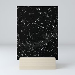 Constellation Map - Black Mini Art Print