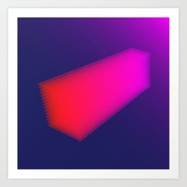 Layer Rectangle Art Print