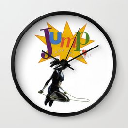 jump for your heart Wall Clock