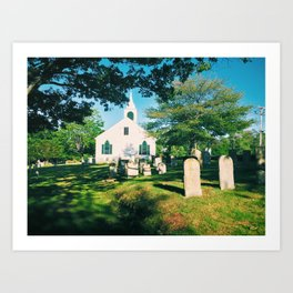 Riverside Cemetery, Cape Elizabeth, ME Art Print