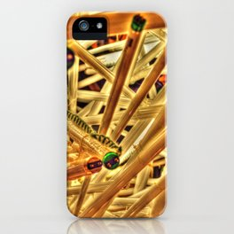 Through Core and Cable iPhone Case
