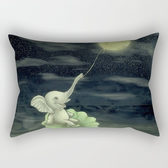 Give me a string, I will fly to the Moon! Rectangular Pillow