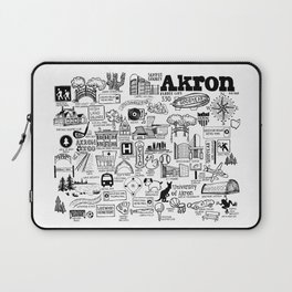 Akron Ohio Map Laptop Sleeve