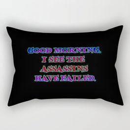 Funny Sarcastic Assassin Joke Rectangular Pillow