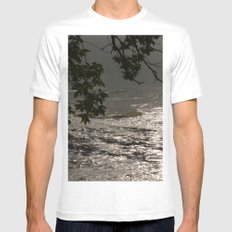 In A Misty Rain MEDIUM White Mens Fitted Tee