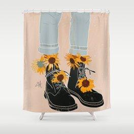 Flower Boots Shower Curtain