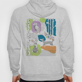 Woodland Animal Scene Hoody